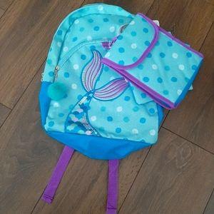 Aqua Mermaid Backpack Set
